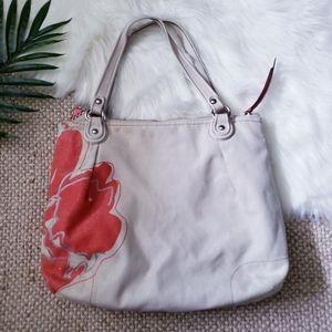 Coach Bags - Coach Poppy Flower Canvas Shoulder Tote Bag